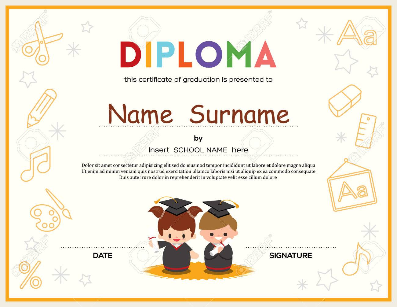 name a star certificate template – Naming Certificates Free Templates