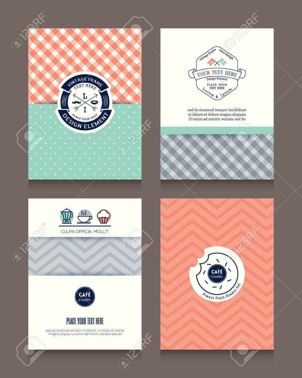 Weinlese-Rahmen Und Hintergrund-Design-Vorlage Für Flyer Broschüre ...