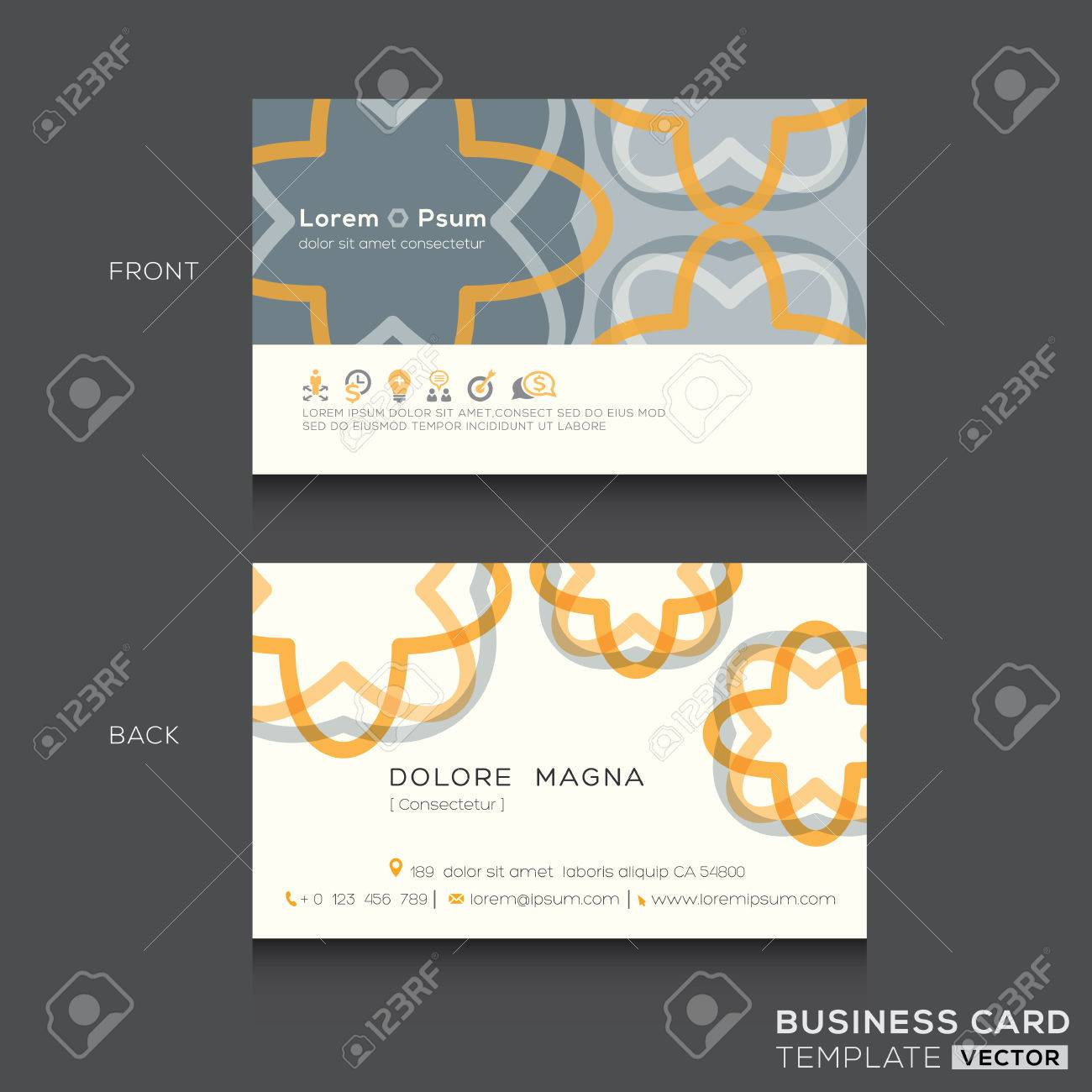 retro business cards design template stock vector 41024881