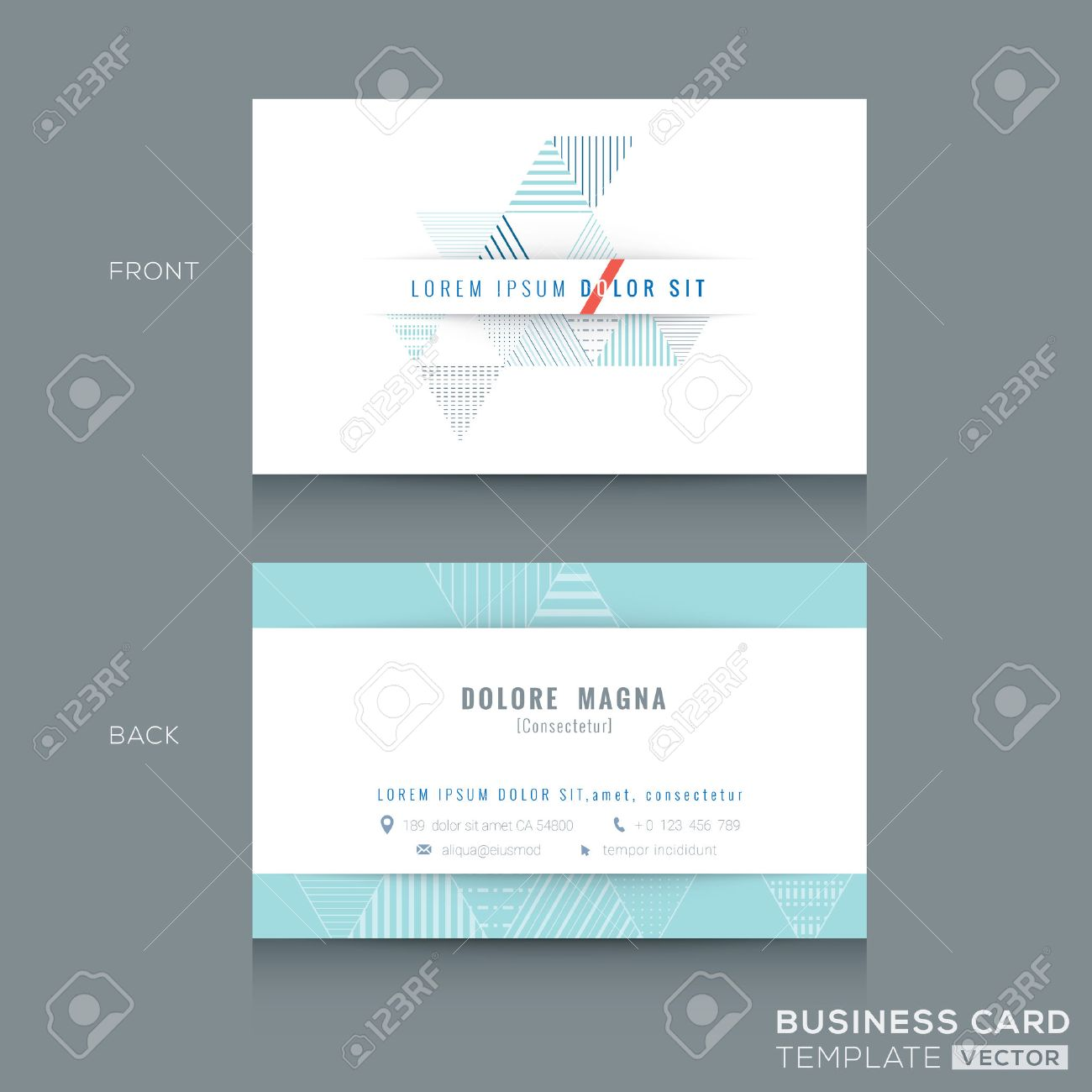 Minimal clean abstract triangle stripe shape design business minimal clean abstract triangle stripe shape design business card template stock vector 41762900 magicingreecefo Choice Image