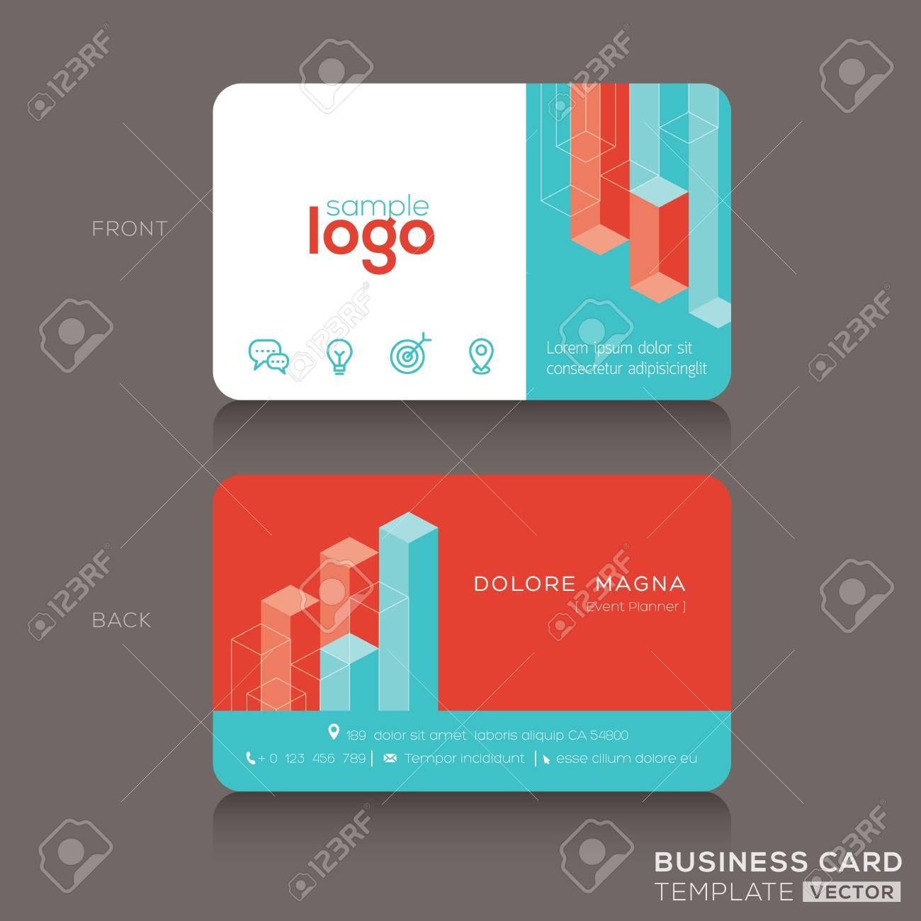 modern trendy business card design template stock vector 46809542