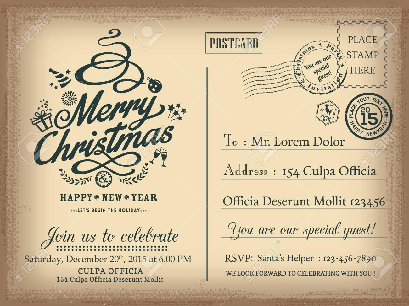 Happy New Year Invitation Card 8