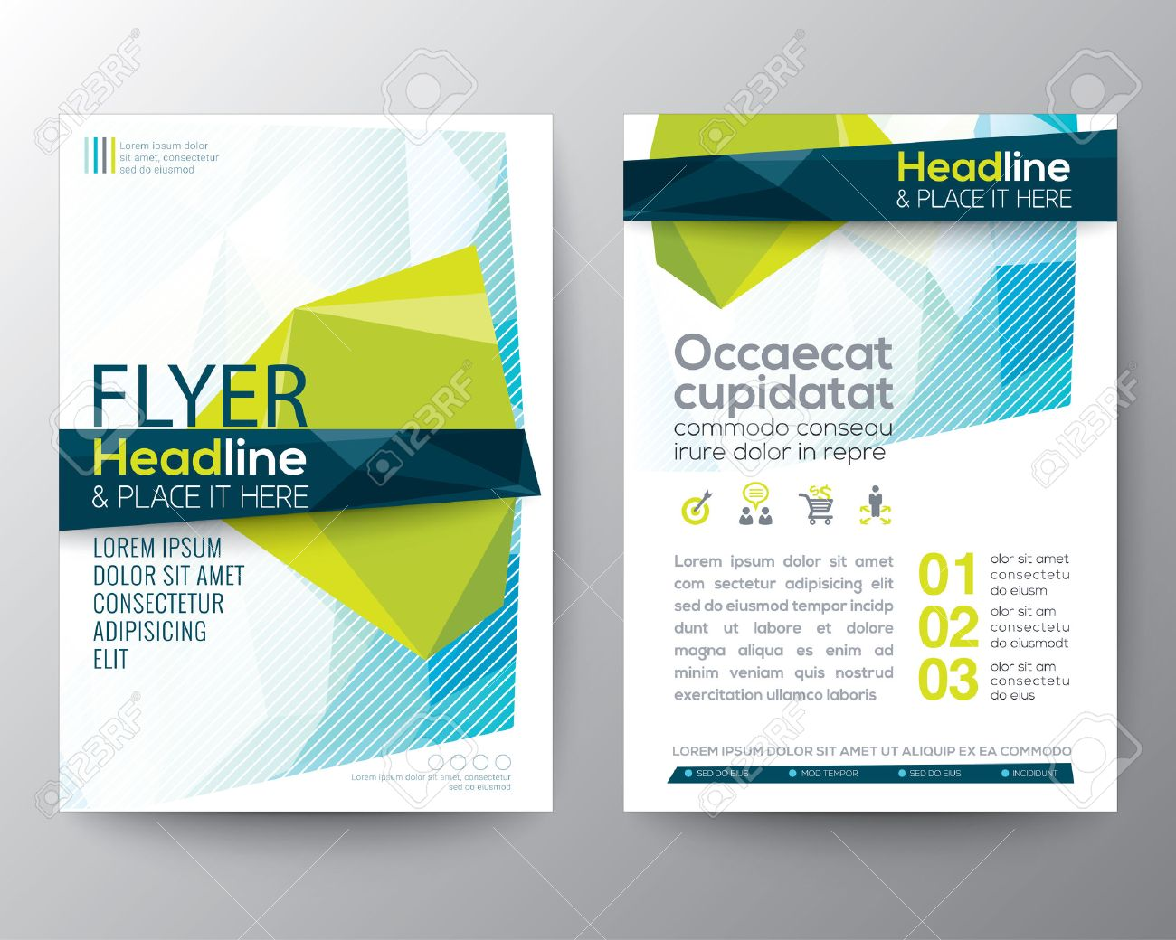 Abstract low polygon background for Poster Brochure design Layout template in A4 size - 51055484