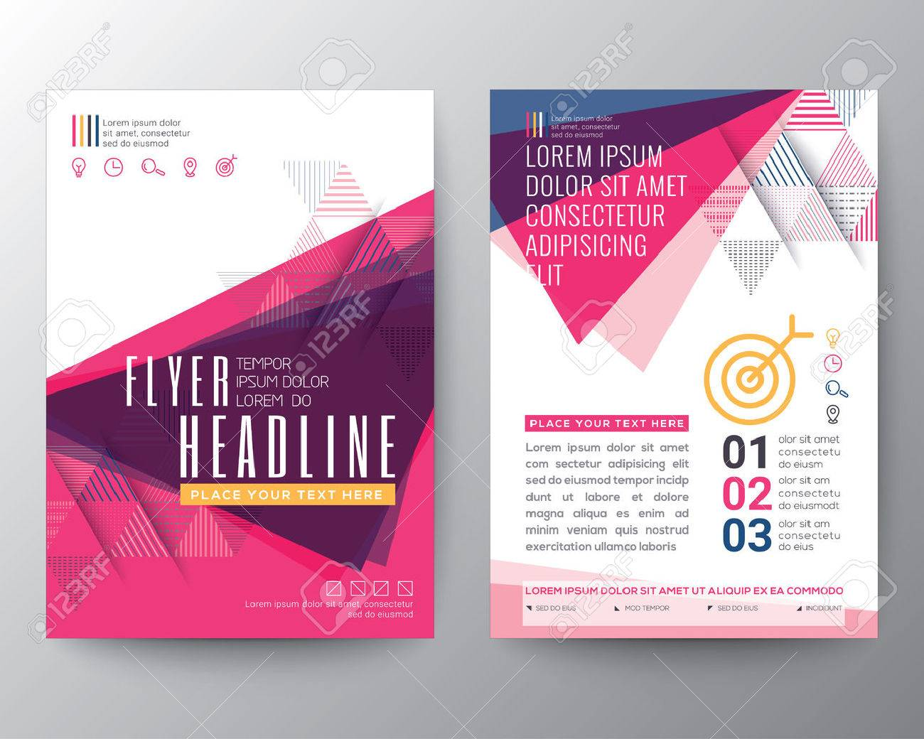 abstract triangle shape poster brochure design layout template in a4 size stock vector 51059498