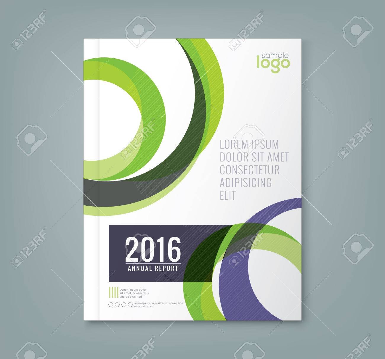 Abstract minimal geometric round circle shapes design background for business annual report book cover brochure flyer poster - 52125850
