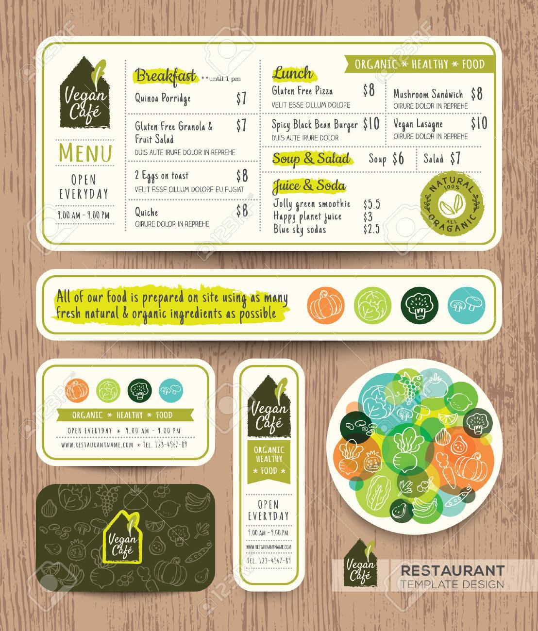 Vegetarian And Vegan Healthy Restaurant Cafe Set Menu Graphic Royalty Free Cliparts Vectors And Stock Illustration Image 52125849