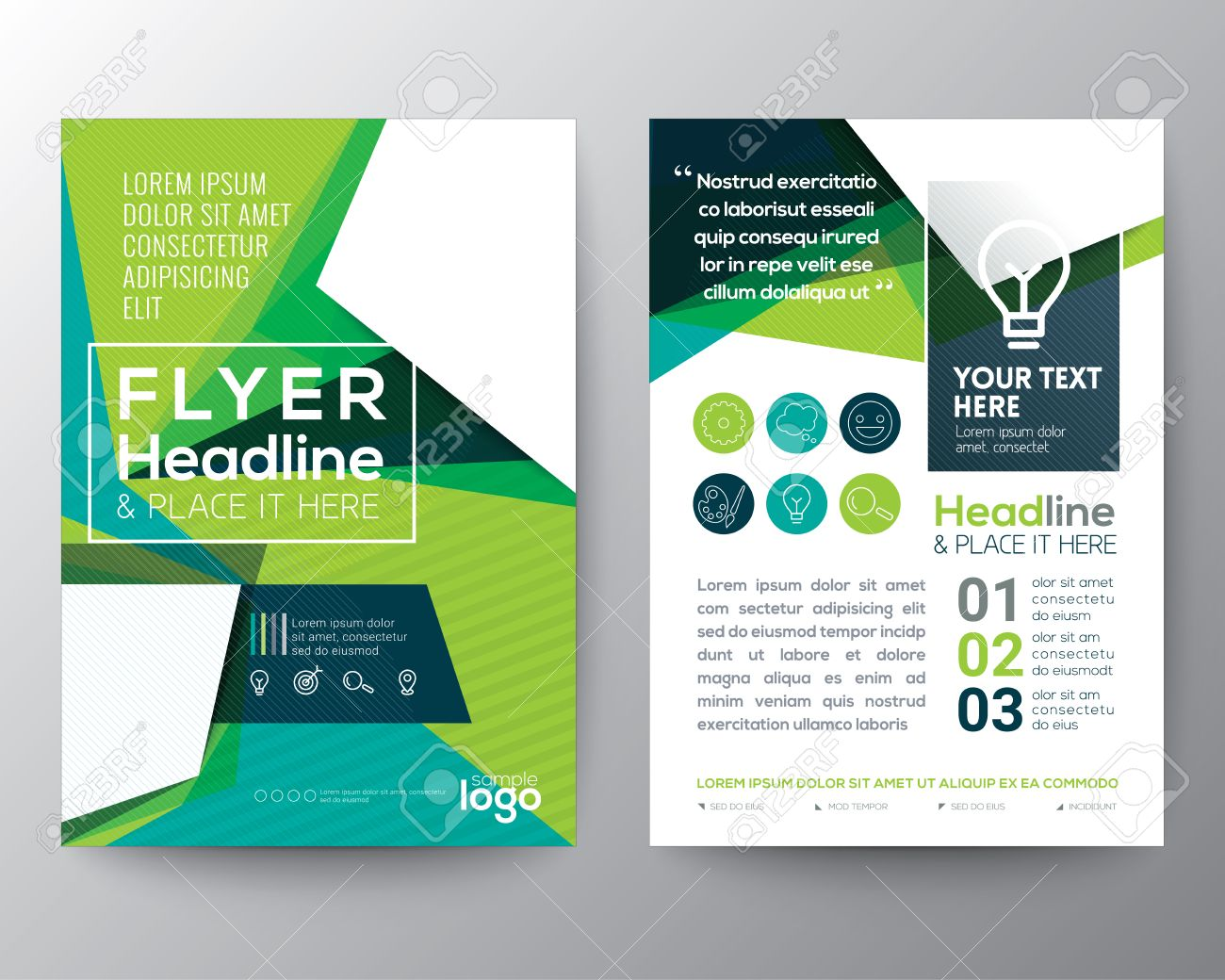 Abstract Triangle shape Poster Brochure Flyer design Layout vector template in A4 size - 52572047