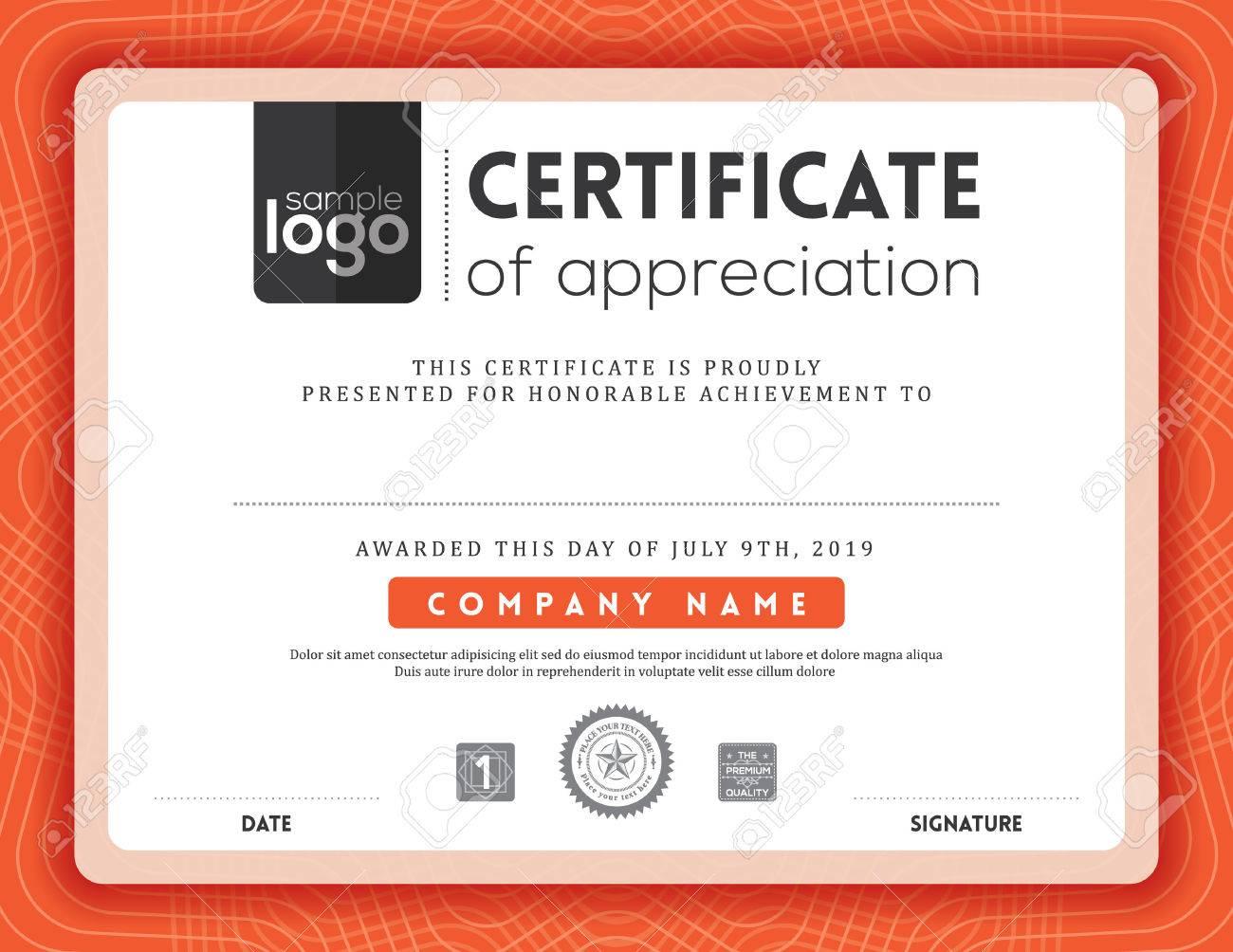 Modern certificate background frame design template - 53061938