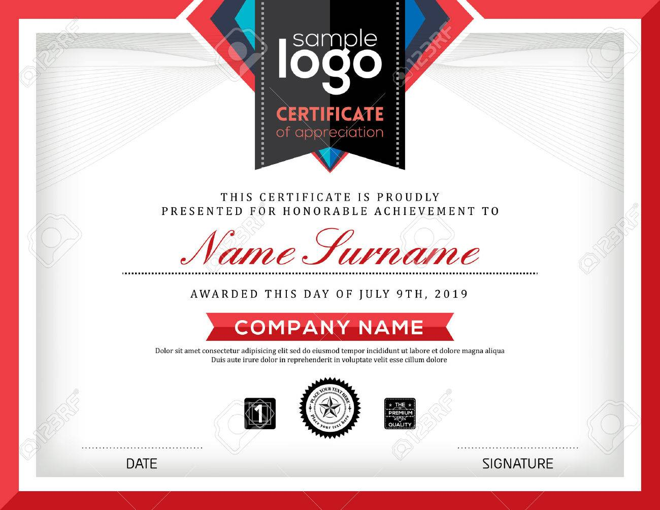 Modern certificate abstract graphic background frame design template - 53061941