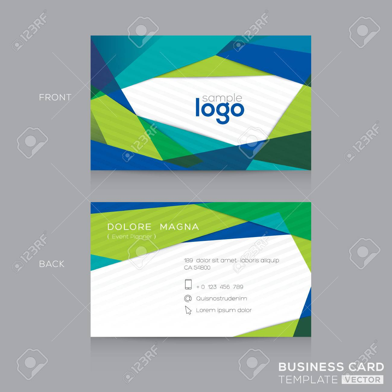 Abstract modern blue green business card design template royalty abstract modern blue green business card design template stock vector 54416941 fbccfo Image collections