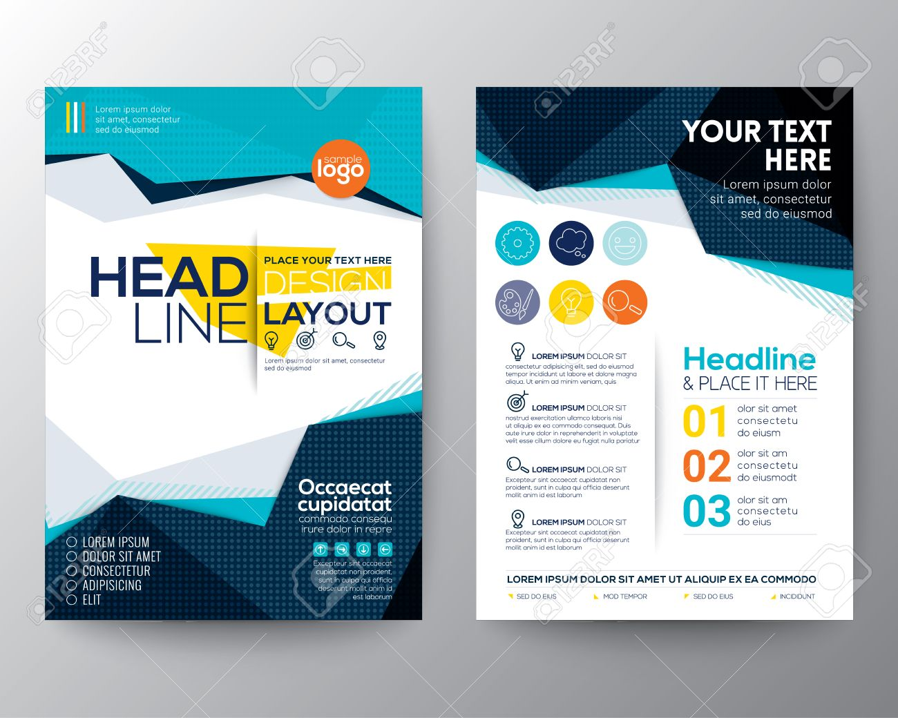 abstract low polygon triangle shape background for poster brochure