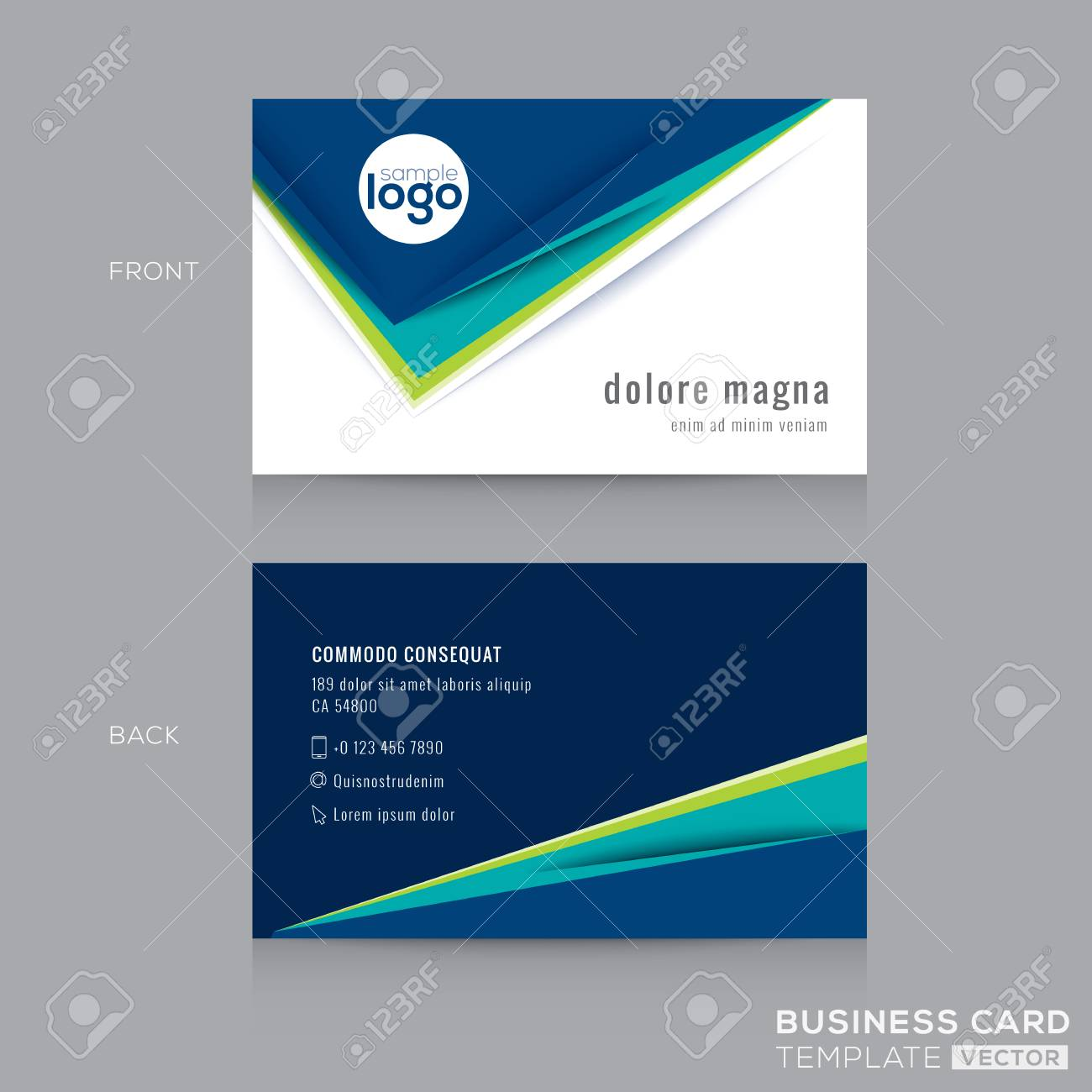Abstract modern blue green business card design template royalty abstract modern blue green business card design template banco de imagens 54888841 reheart