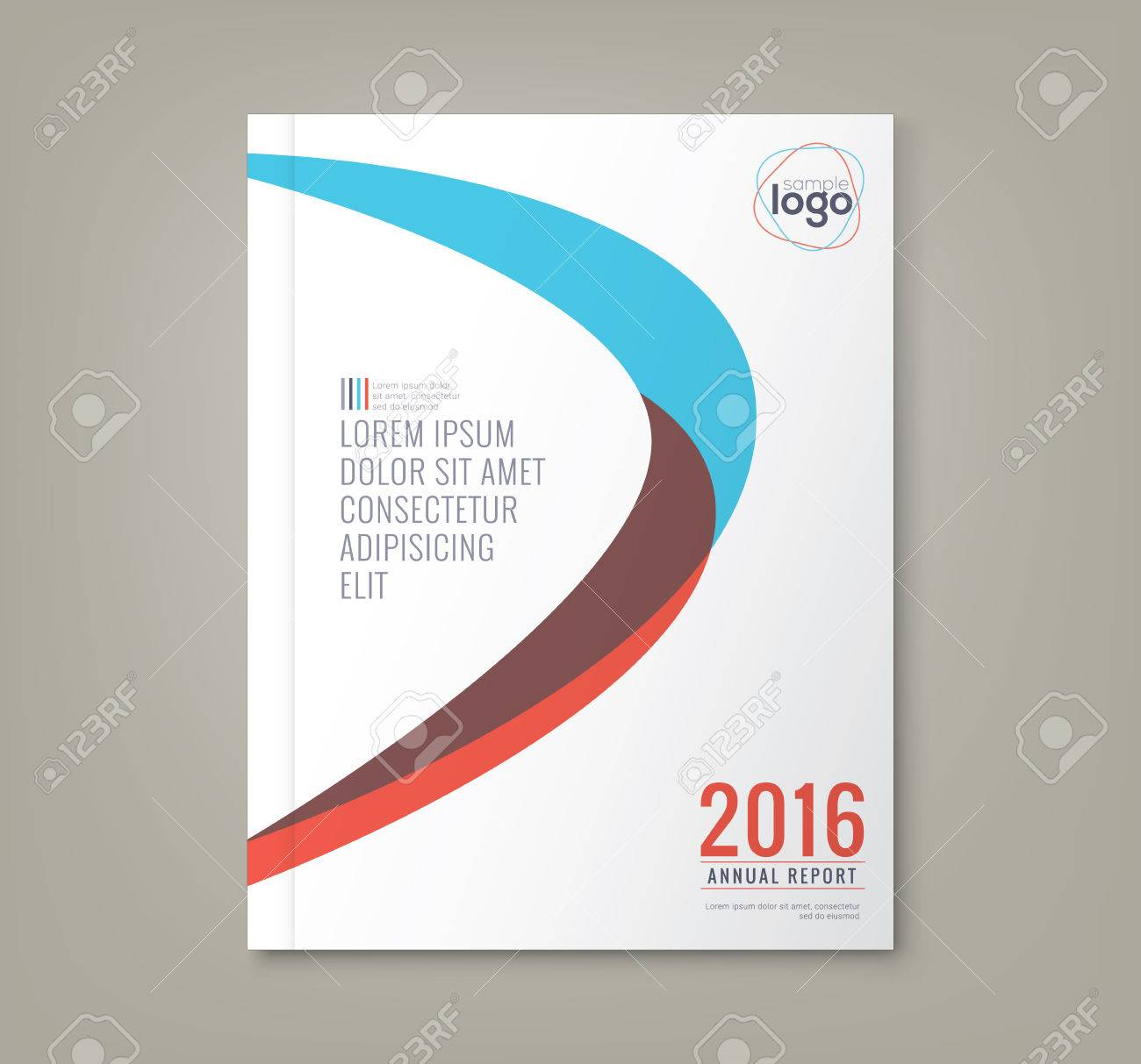 Abstract Minimal Curved Shapes Design Background Template For Business  Annual Report Book Cover Brochure Flyer Poster  Business Annual Report Template