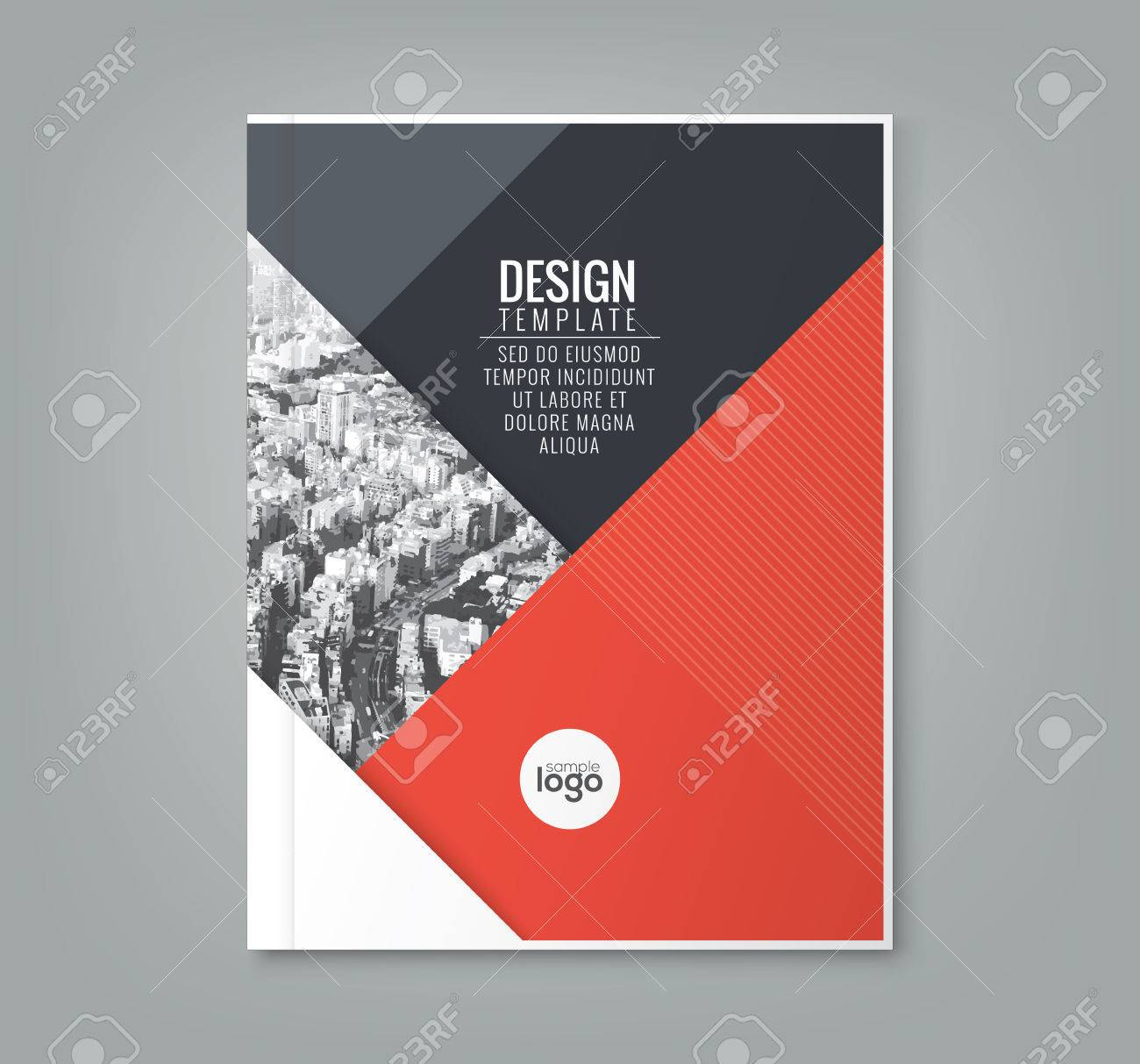 minimal simple red color design template background for business annual report book cover brochure poster - 56089098