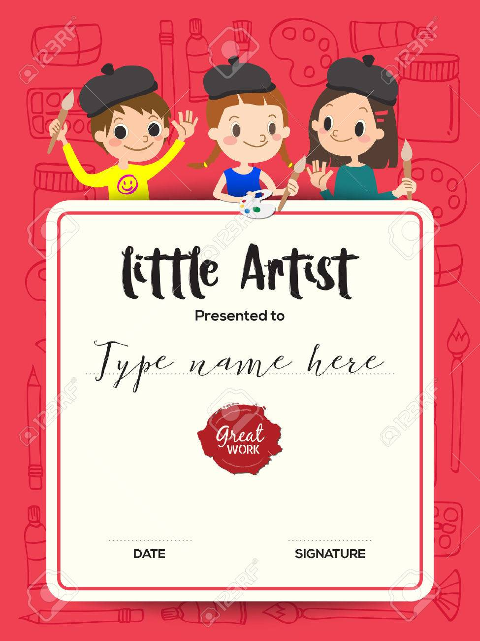 Child certificate template images templates example free download little artist kids diploma child painting course certificate little artist kids diploma child painting course certificate xflitez Images