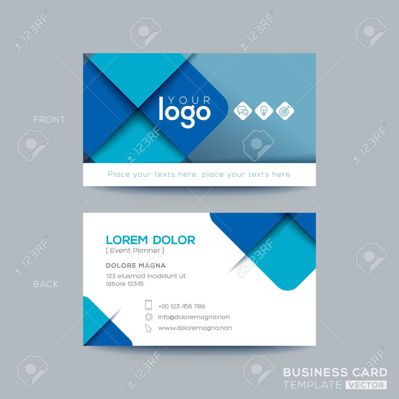 Clean and simple blue business card namecard design royalty free clean and simple blue business card namecard design stock vector 71815111 wajeb Choice Image