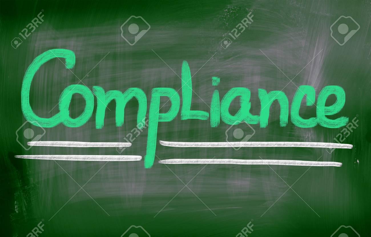 Compliance words on blackboard Stock Photo - 25712513