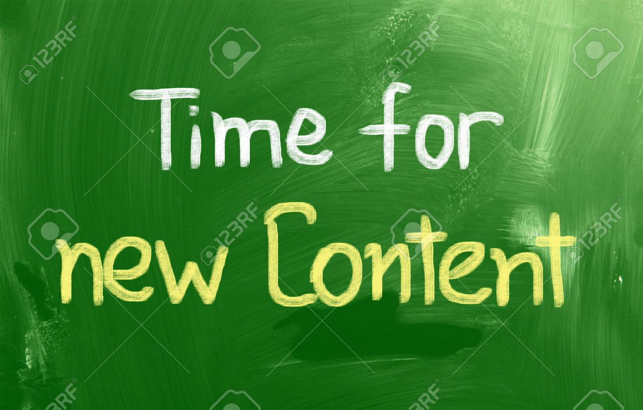 Time For New Content Concept Stock Photo - 26047090