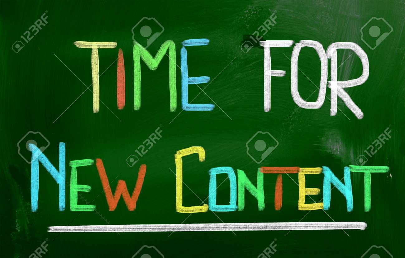 Time For New Content Concept Stock Photo - 26047092