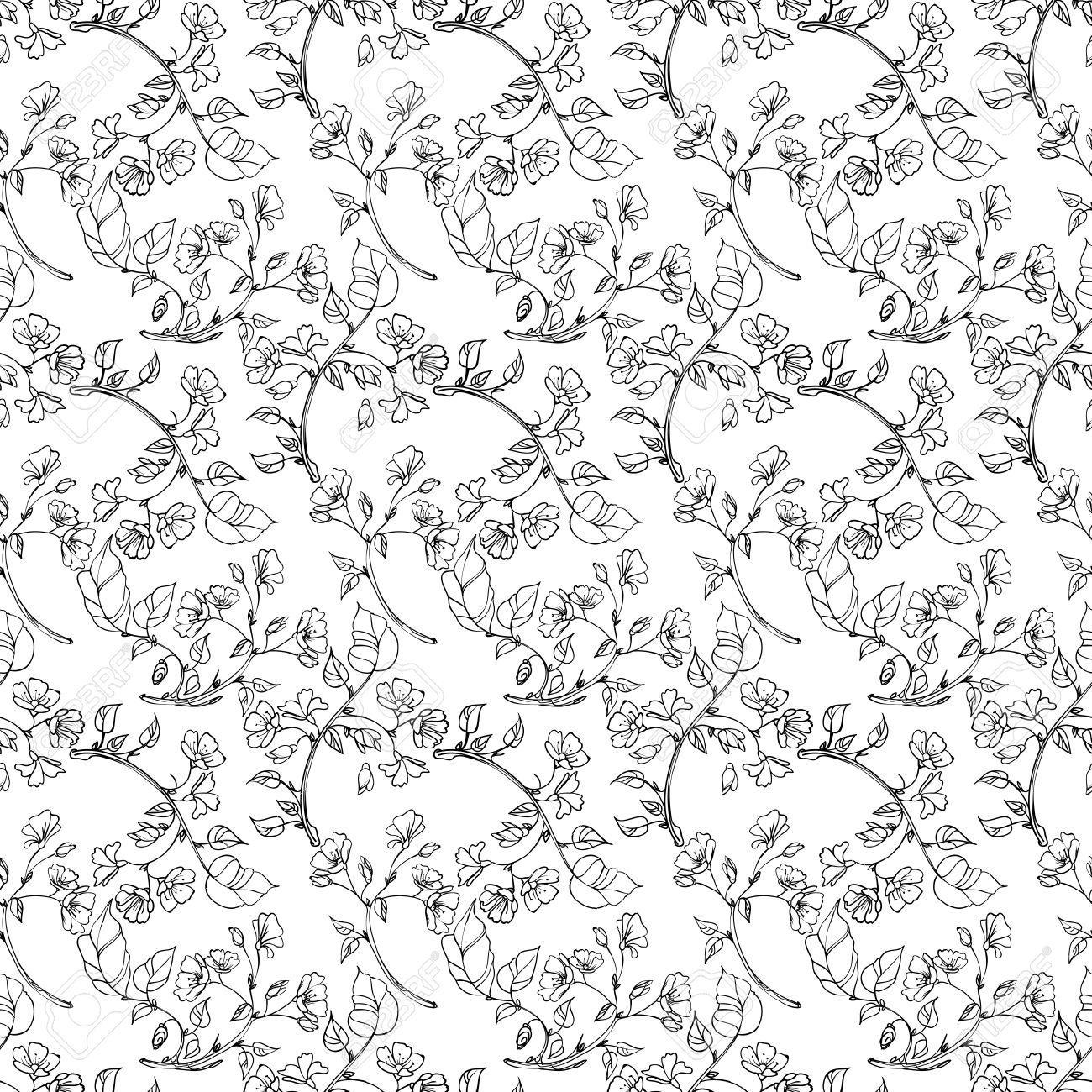 seamless pattern apple tree branch Stock Vector - 20917060