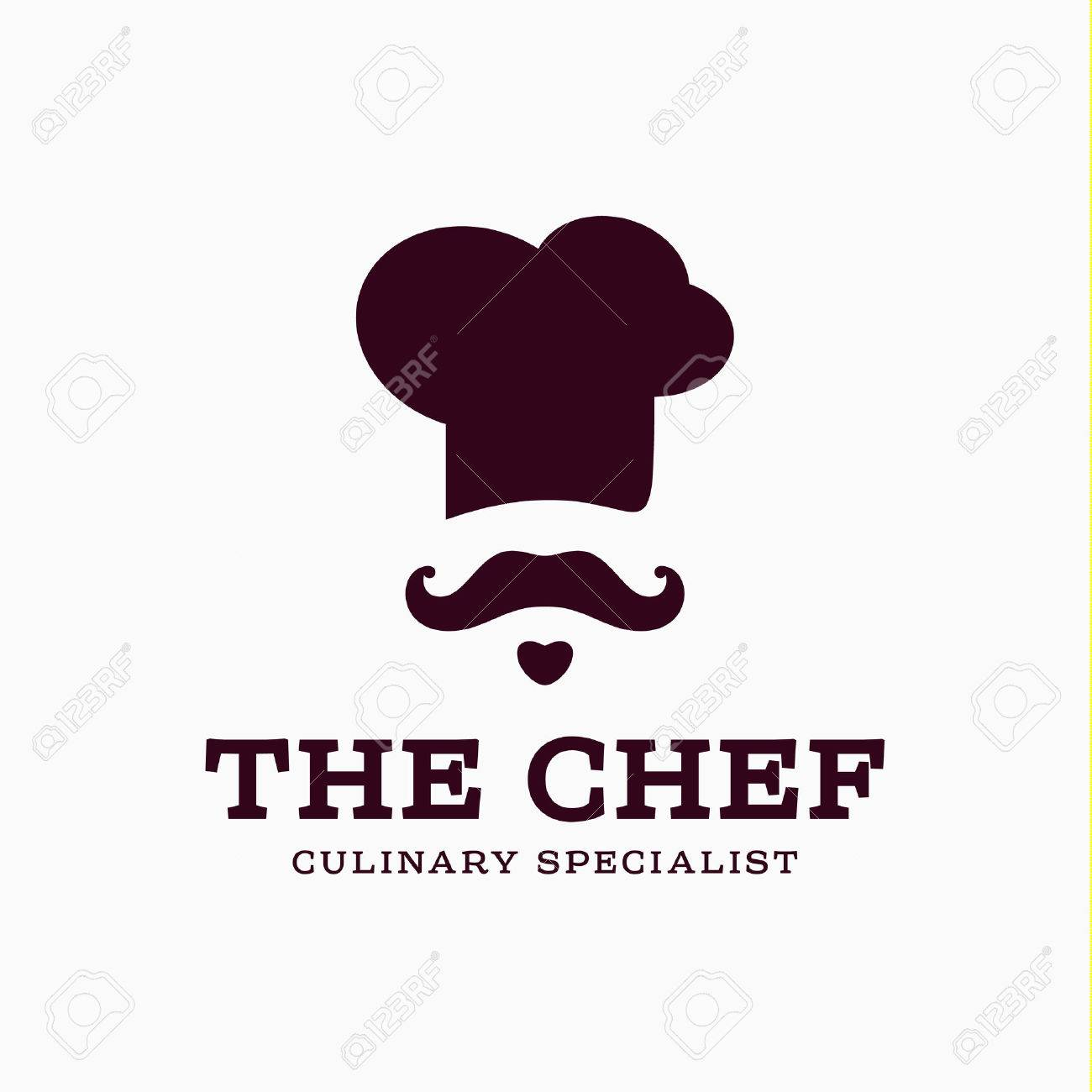 chef cook icon toque, chefs hat vector trend flat style brand mustache beard stylinga - 47418245