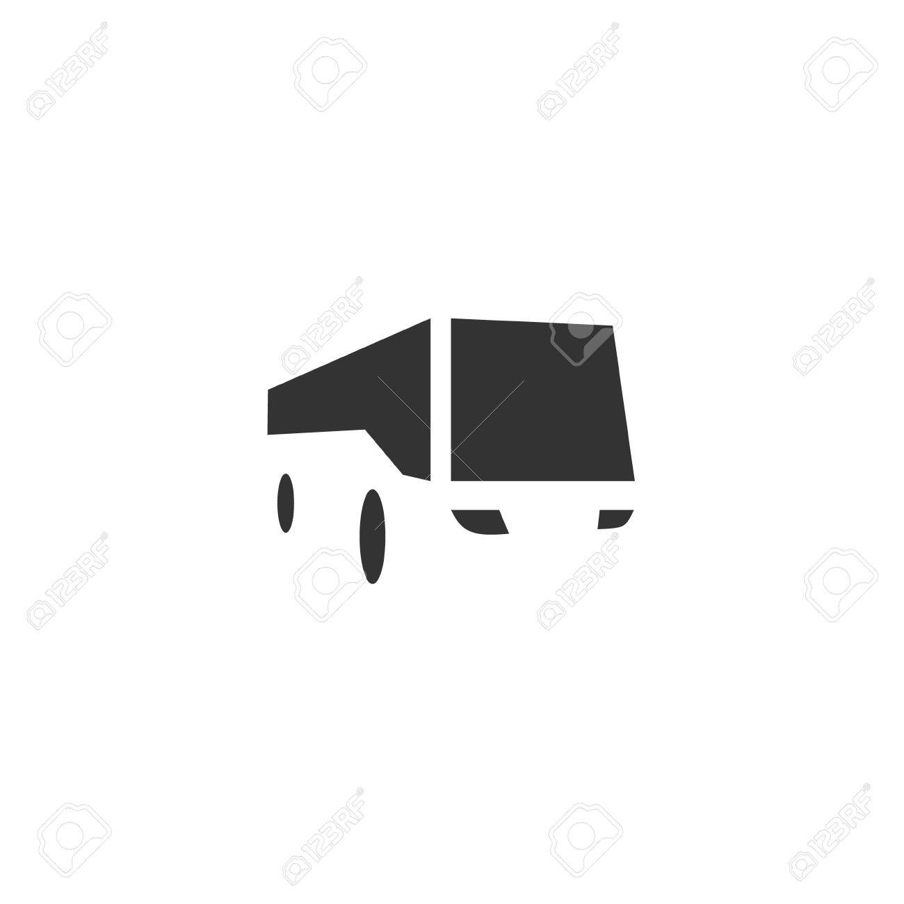 bus logo in negative space quality modern flat style design for your