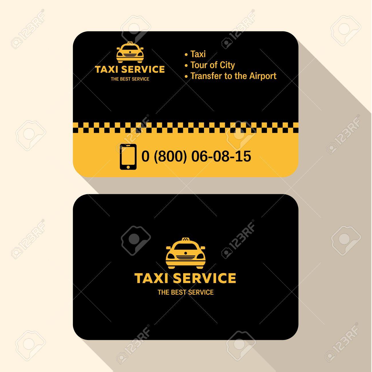 Carte De Visite Chauffeur Taxi Credits En Plastique Jaune Et