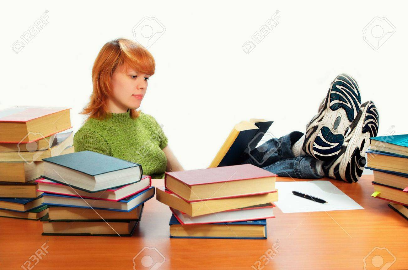 young student girl Stock Photo - 443350