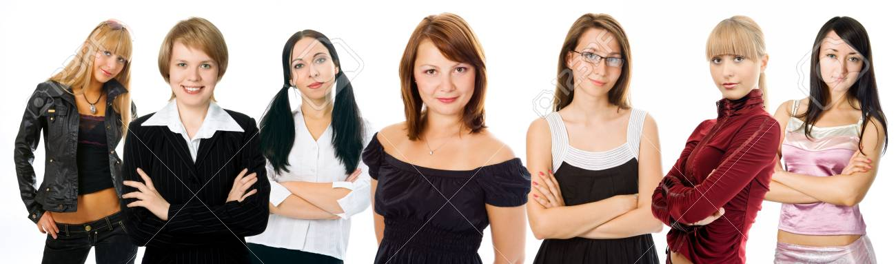 people woman group on white background Stock Photo - 2711563