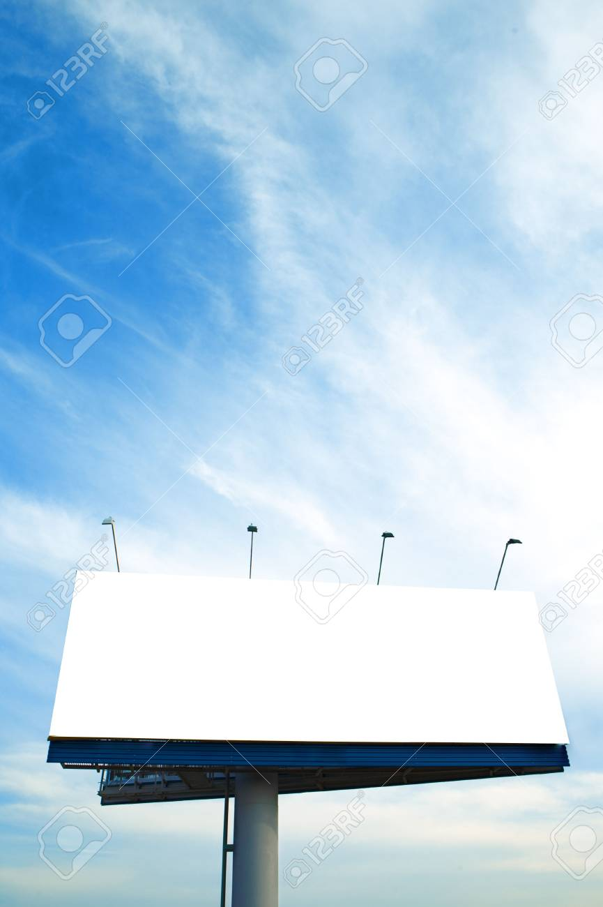 Blank big billboard over blue sky Stock Photo - 3843443