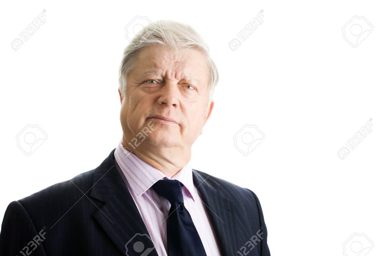 portrait  mature businessman on white background Stock Photo - 3858819