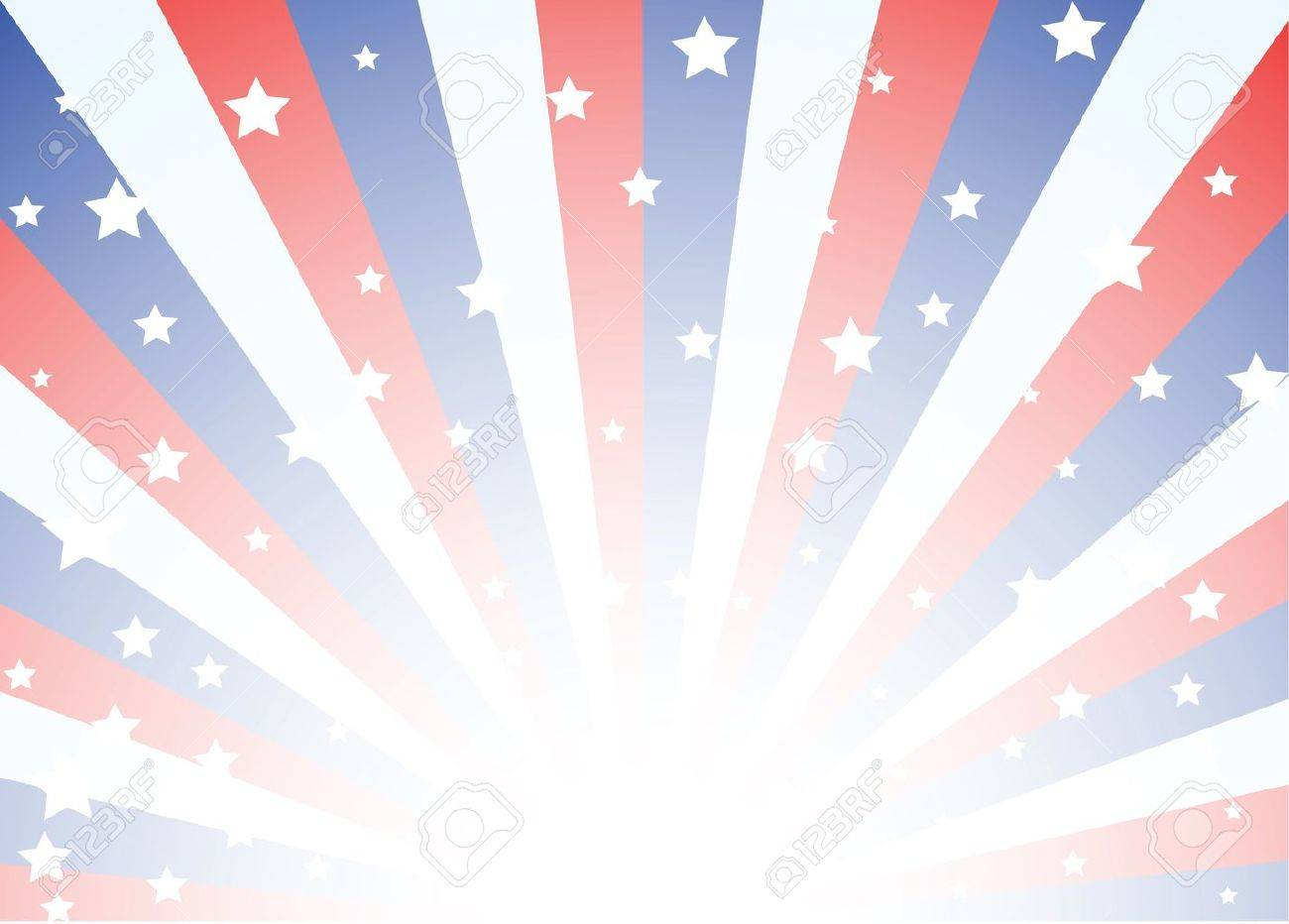 Background Featuring Red White And Blue Stripes With Stars Royalty