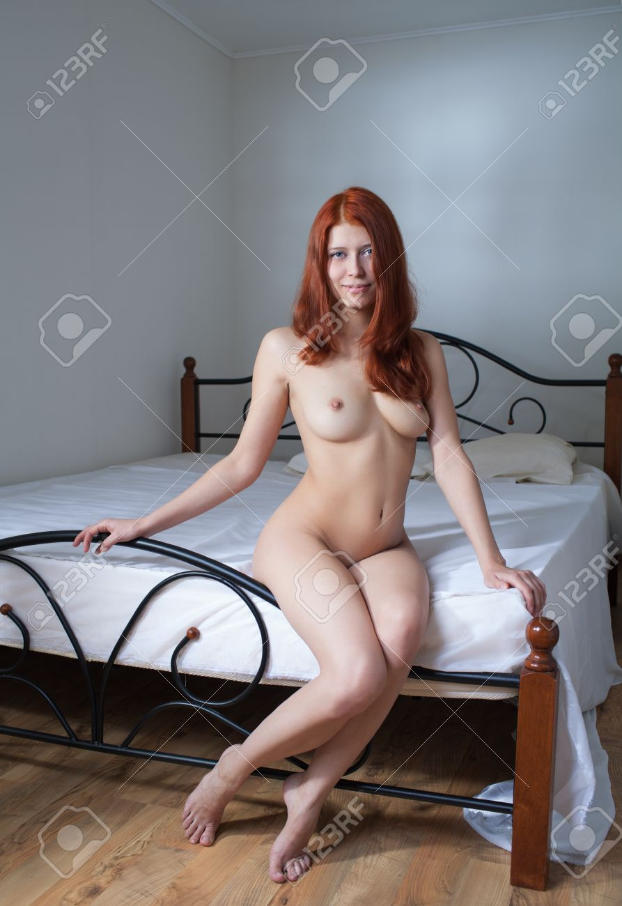 beauty nude woman in bedroom