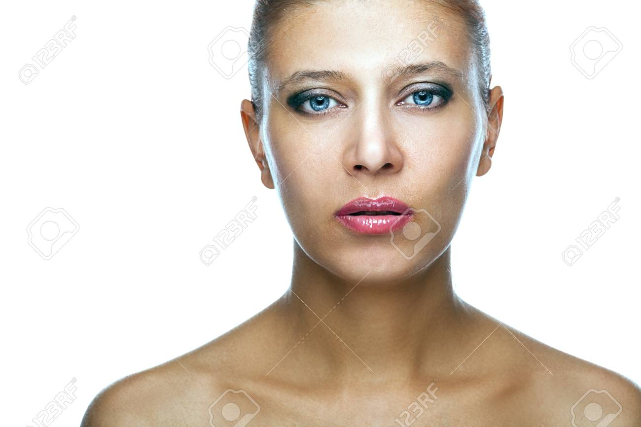 beauty woman over white background Stock Photo - 23184701