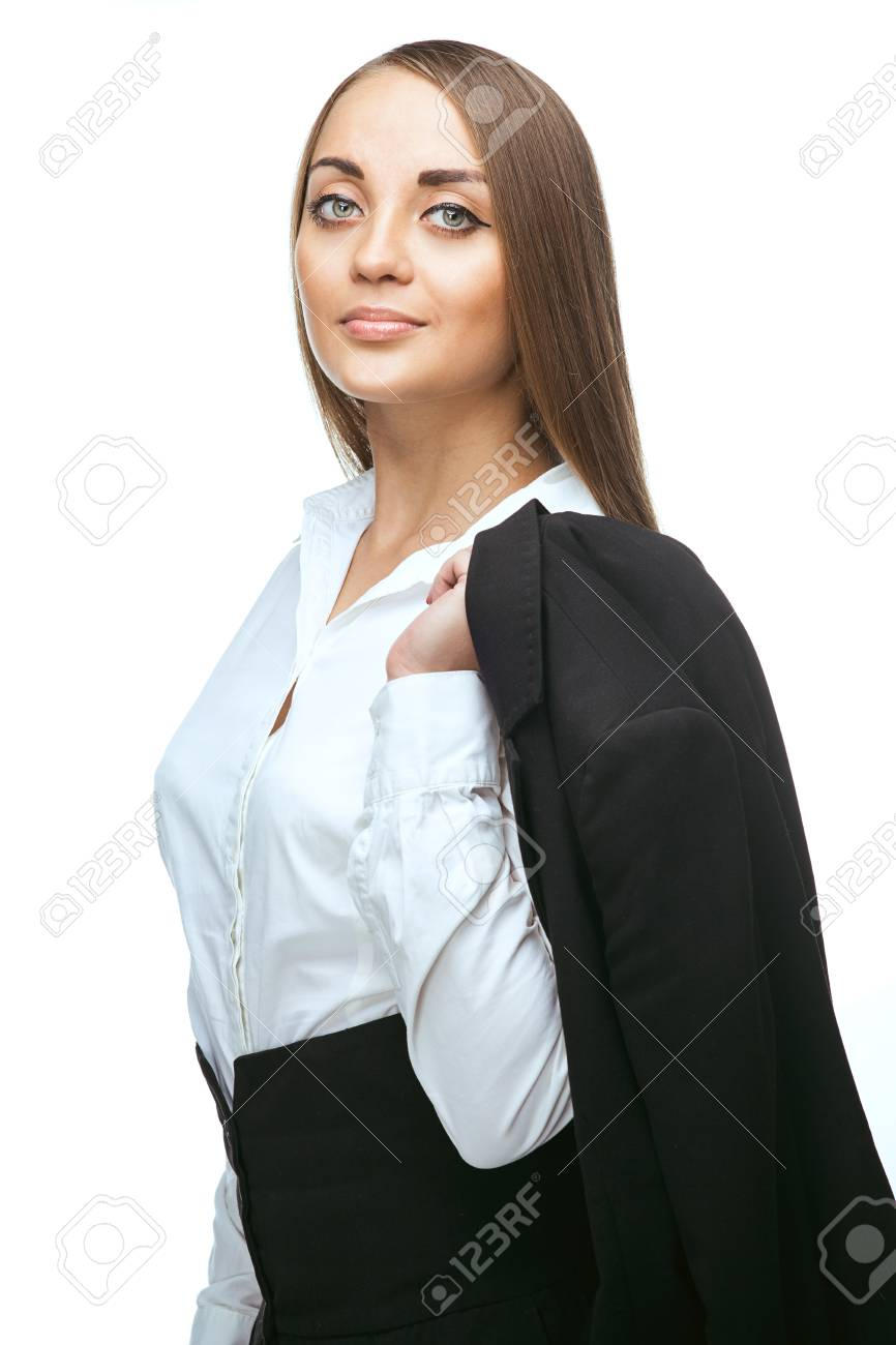 beauty business woman over white background Stock Photo - 23488220