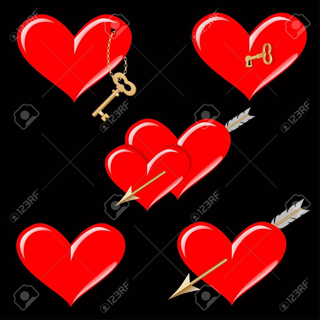 Hearts icons heart symbols of st valentine royalty free heart symbols of st valentine stock vector 52359348 biocorpaavc