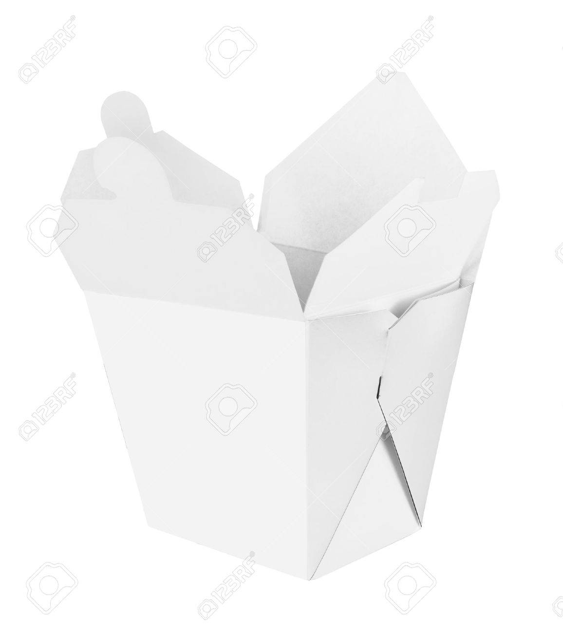 Blank Chinese food container isolated on white background - 20192903
