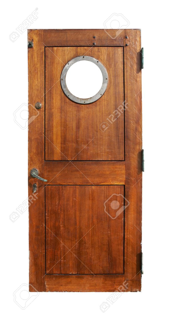 Door on ship, isolated on white - 20370423