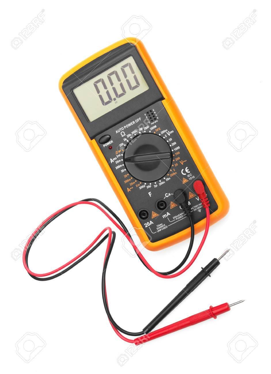 Digital multimeter isolated on white background - 26476628