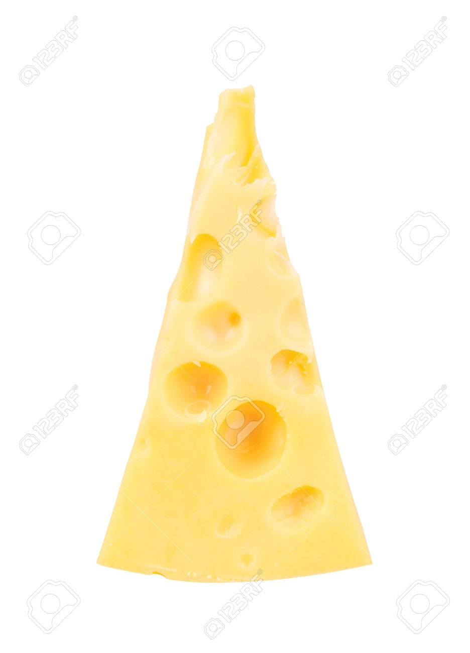 Piece of Cheese isolated on a white background - 26869619