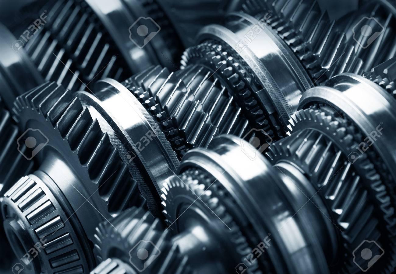 Gear metal wheels close-up - 35949067