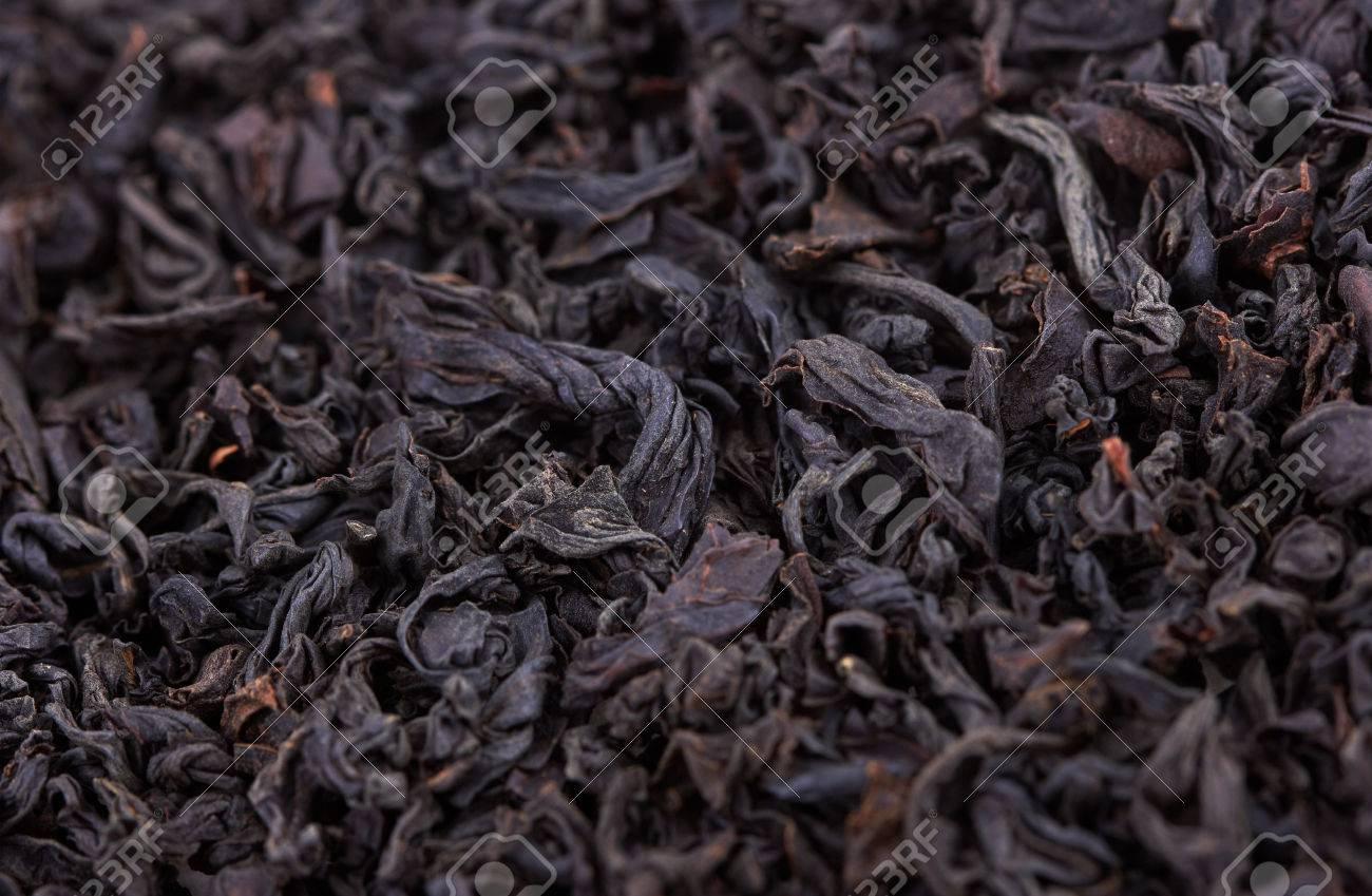 Dry Black Tea leaves close-up - 44493881