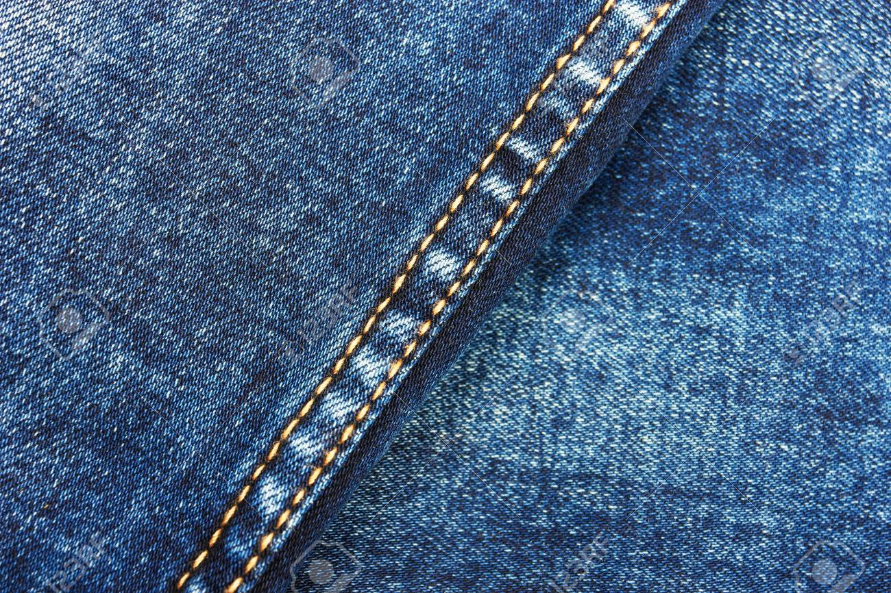 b11e49ba7261 Jeans background with double thread s seam Stock Photo - 48525050