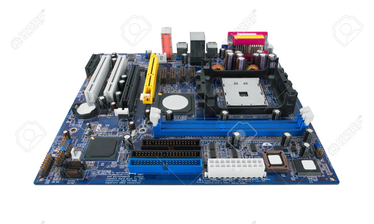 Motherboard Isolated on white background - 51368516