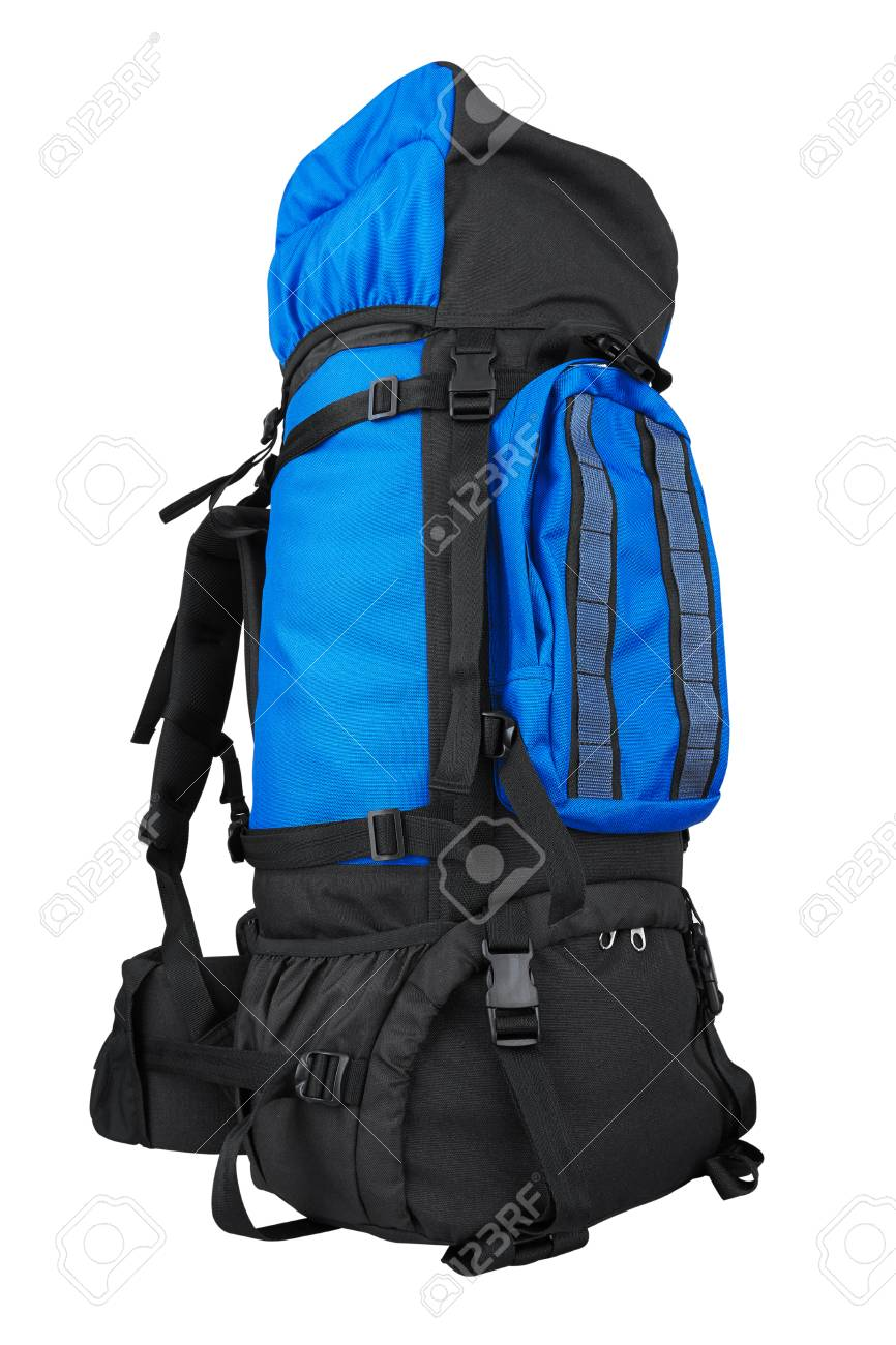 Tourist backpack isolated on white background Stock Photo - 106434925 66542a9af753e