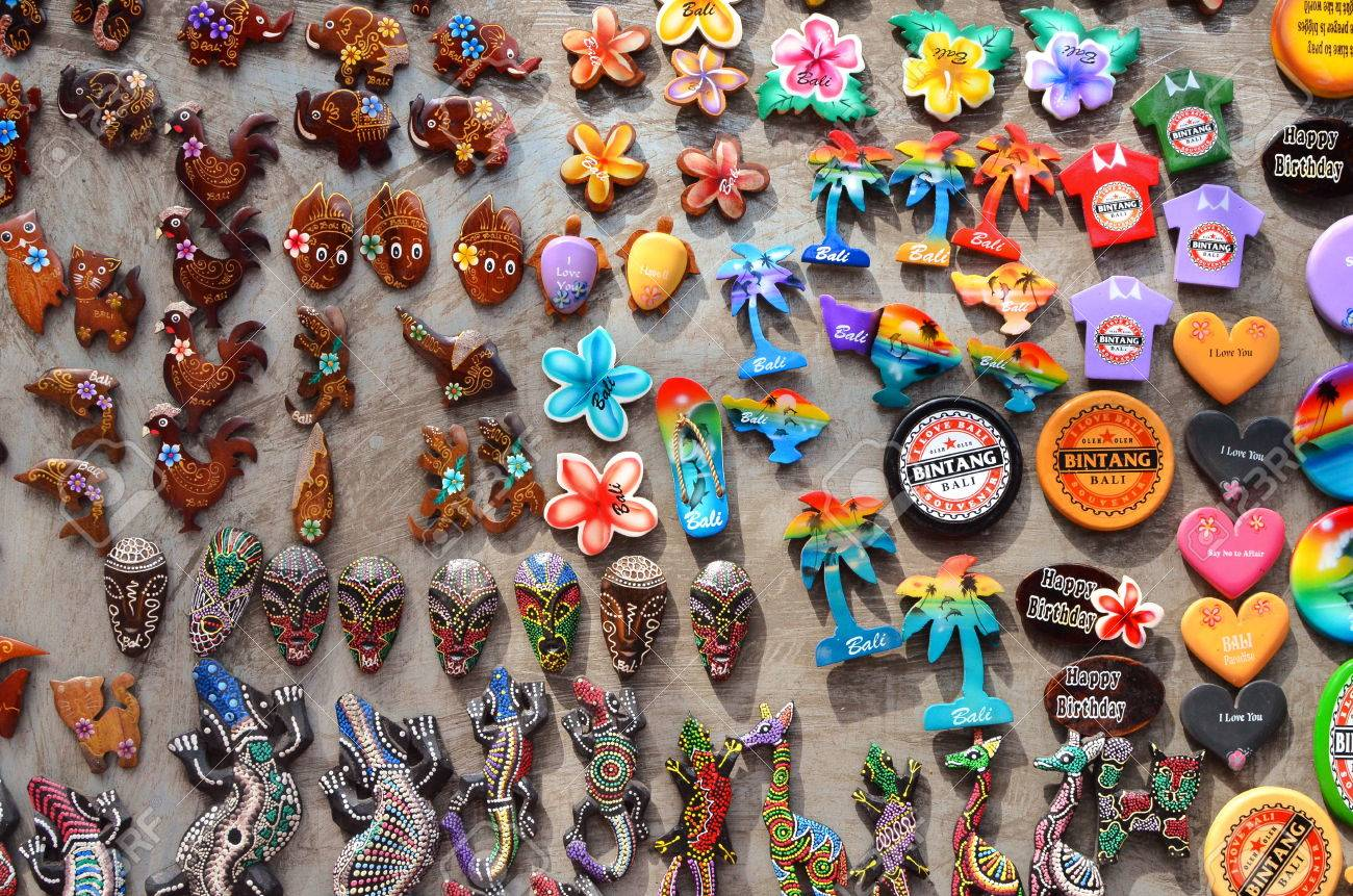 Ubud Bali May 17 Typical Souvenirs And Handicrafts Of Bali