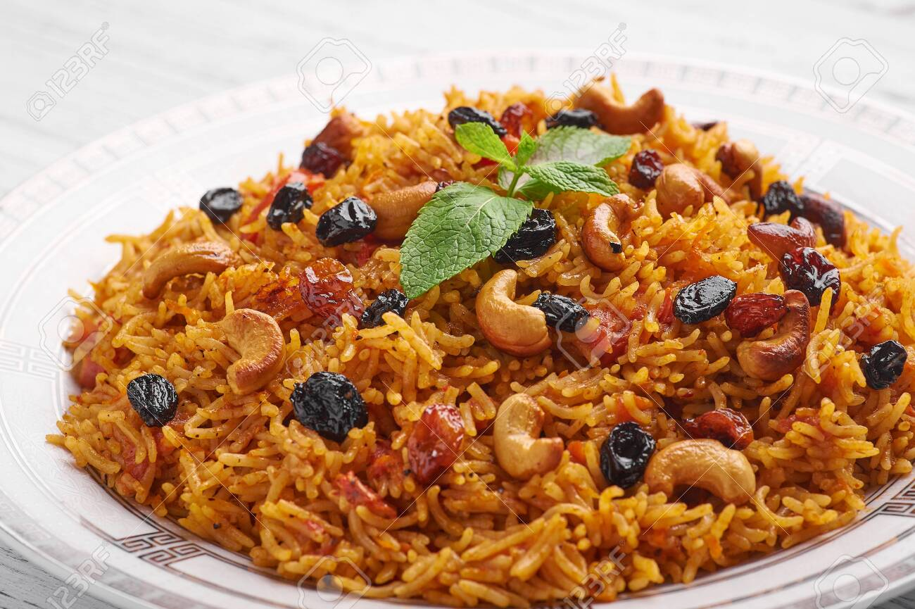 Vegetarian Kabsa Ramadan Food Kabsa Is Traditional Saudi Arabian Stock Photo Picture And Royalty Free Image Image 128824173