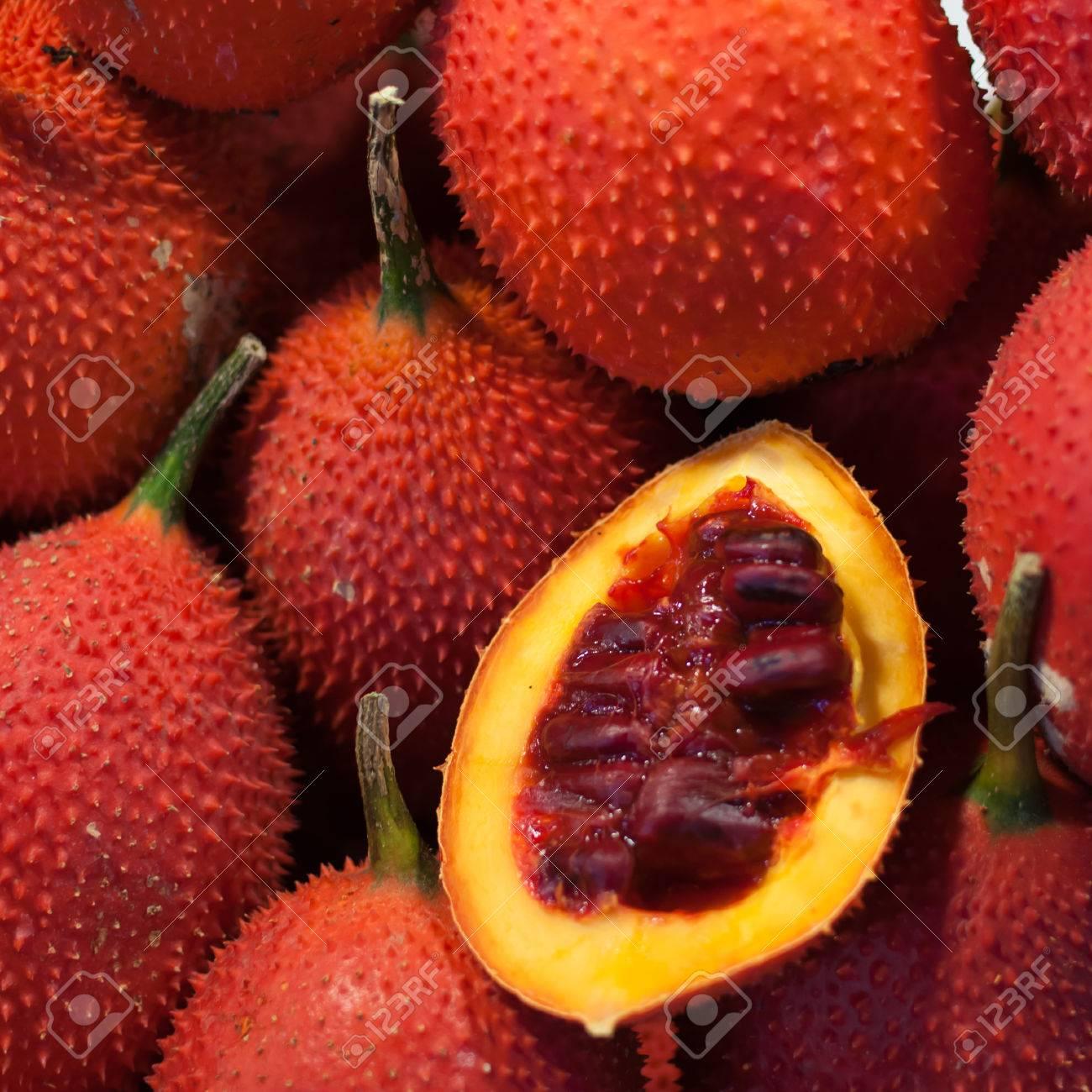 Gac Früchte, Babyjackfrucht, Stachel Bitterer Kürbis, Süße Kürbis ...