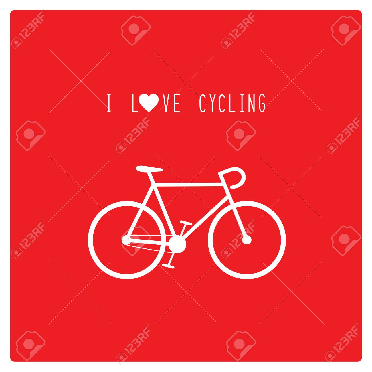 I Love Cycling Card For Decoration Royalty Free Cliparts Vectors