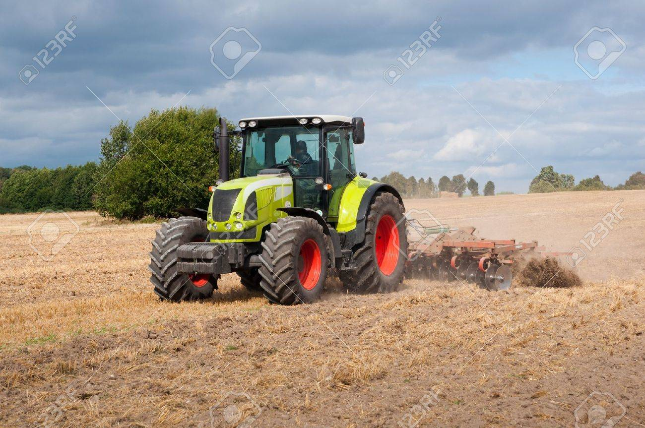 tractor on field Stock Photo - 15606938